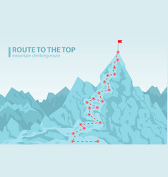 Route to the top mounting climbing vector