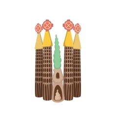 Sagrada Familia Barcelona icon cartoon style vector
