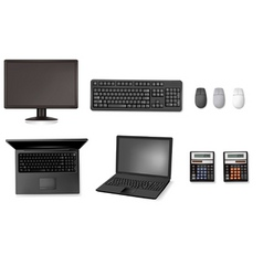 set of computers vector image