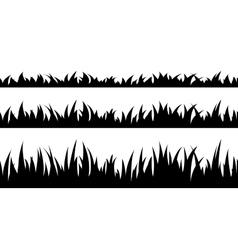 Set of seamless the grass vector