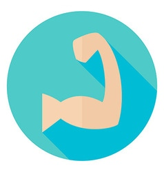 Sport Human Muscle Hand Circle Icon vector image