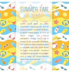 Summer Holidays Flyer Template vector image
