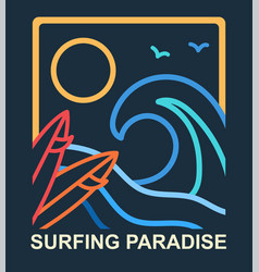 surfing badges concept vector image