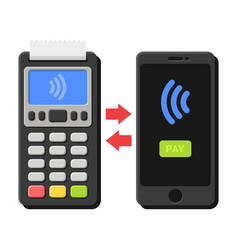 terminal and smartphone payment operation vector image