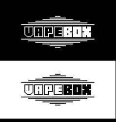 text vape box logotype with black and white color vector image