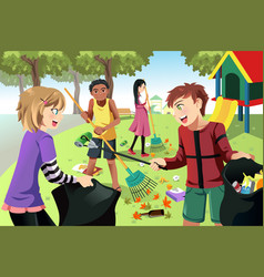 volunteer kids vector image