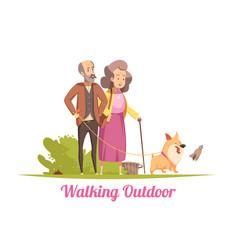 Walking puppy cartoon vector