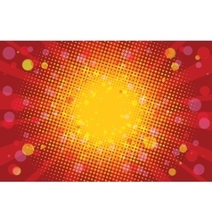 Warm Sunny carnival background vector