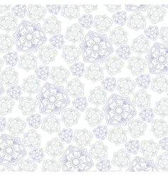 White background with ornament for fabrik vector image