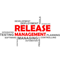 Word cloud - release management vector