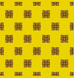 adinkra west african symbols pattern textile vector image