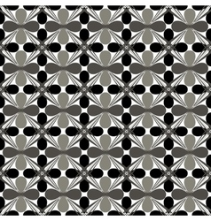 Flower gray seamless pattern vector image vector image