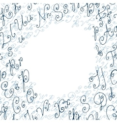 Hand drawn circle background or frame vector