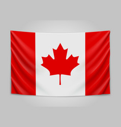 hanging flag of canada canada national flag vector image