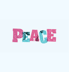 Peace concept stamped word art vector
