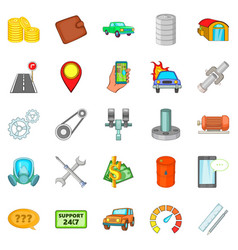 renovation icons set cartoon style vector image