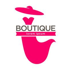 stylish boutique logo vector image vector image