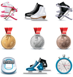 vector ice skating icon set vector image vector image