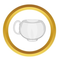 White tea cup icon vector image