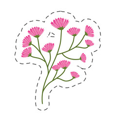 flourishes branch spring image cut line vector image