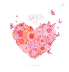 flower heart lovely chrysanthemums for your design vector image vector image