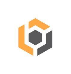 modern logo solution letter b vector image vector image