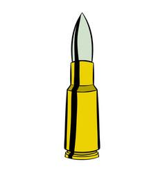 bullet icon cartoon vector image
