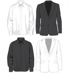 coats and shirts vector image