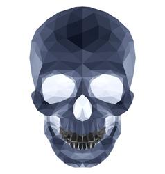Dark crystal skull vector image vector image