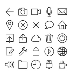 ios 7 icons set vector image