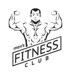 Mens fitness logo vector image vector image