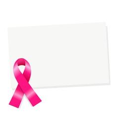 Pink Ribbon Note vector image vector image
