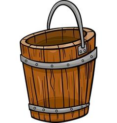 wooden bucket retro cartoon clip art vector image vector image