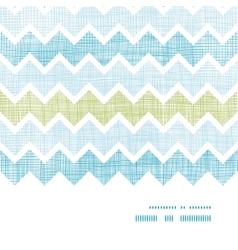 Fabric textured chevron stripes horizontal frame vector image vector image