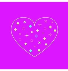 heart background in modern flat design with vector image vector image