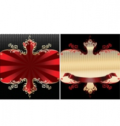 royal banner vector image vector image