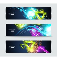 Set of banners and abstract headers vector image vector image