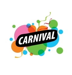 Abstract logo carnival vector