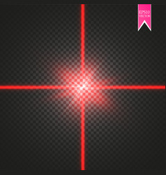 Abstract red laser beam the vector