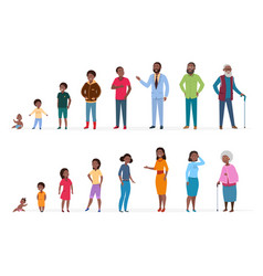 african american people different ages man vector image