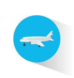 Air craft fly transport icon vector