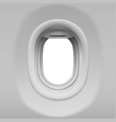 airplane porthole vector image