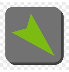 Arrowhead Right-Down Rounded Square Button vector image