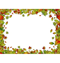Autumn Bright Leaf Border vector image