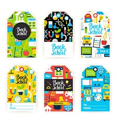 Back to School Gift Label Set vector