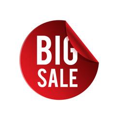big sale red circle frame banner image vector image