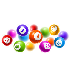 bingo or lottery colored number balls vector image