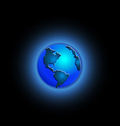 blue world earth vector image