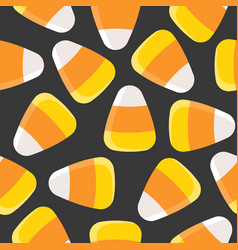 candy corn seamless pattern for halloween vector image