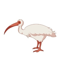 Cartoon smiling ibis vector